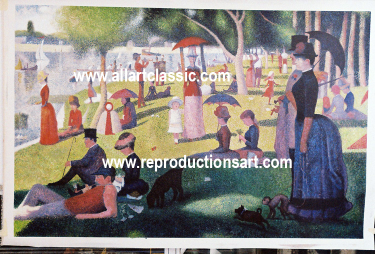 George Seurat Painting Work sample