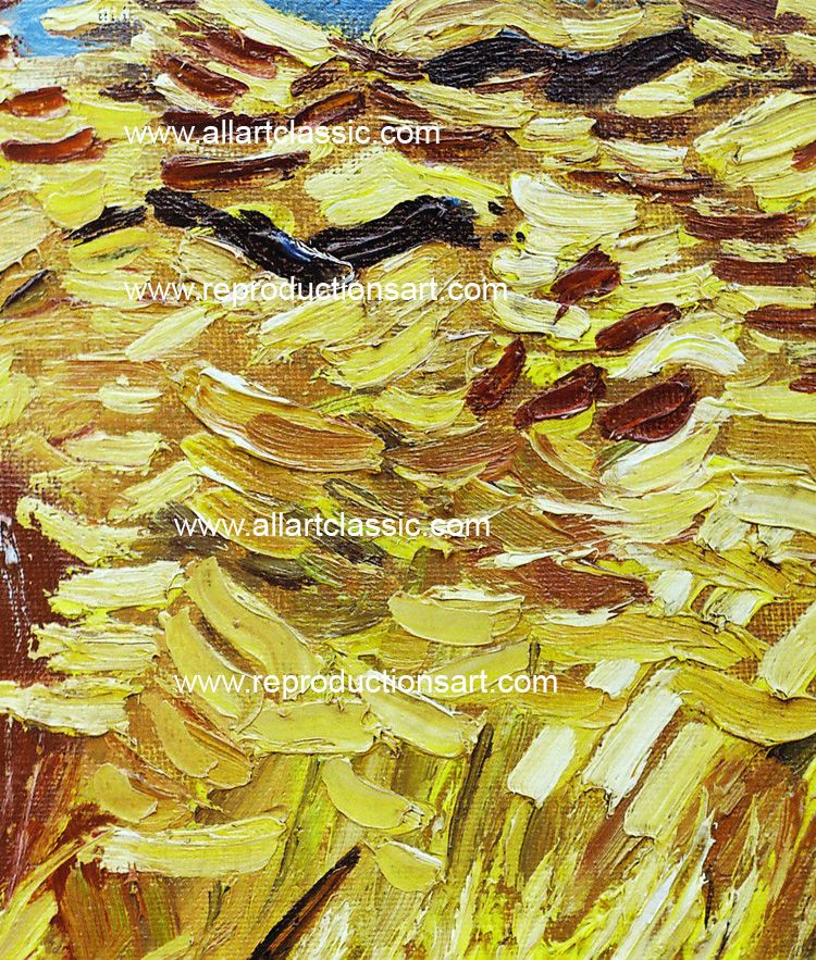 Art Reproductions vincent_van_gogh_field_001N_B. Our Oil Painting Reproduction -Zoom Details