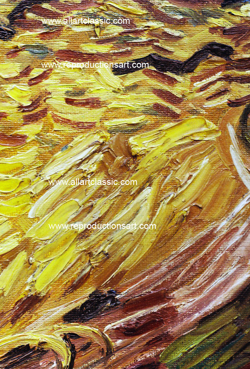 Art Reproductions vincent_van_gogh_field_001N_D. Our Oil Painting Reproduction -Zoom Details